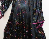 Child Costume, Witch, Wizard, Magician, Black, Iridescent Foil Stars, Hat, Size 3/4/5, 20% off