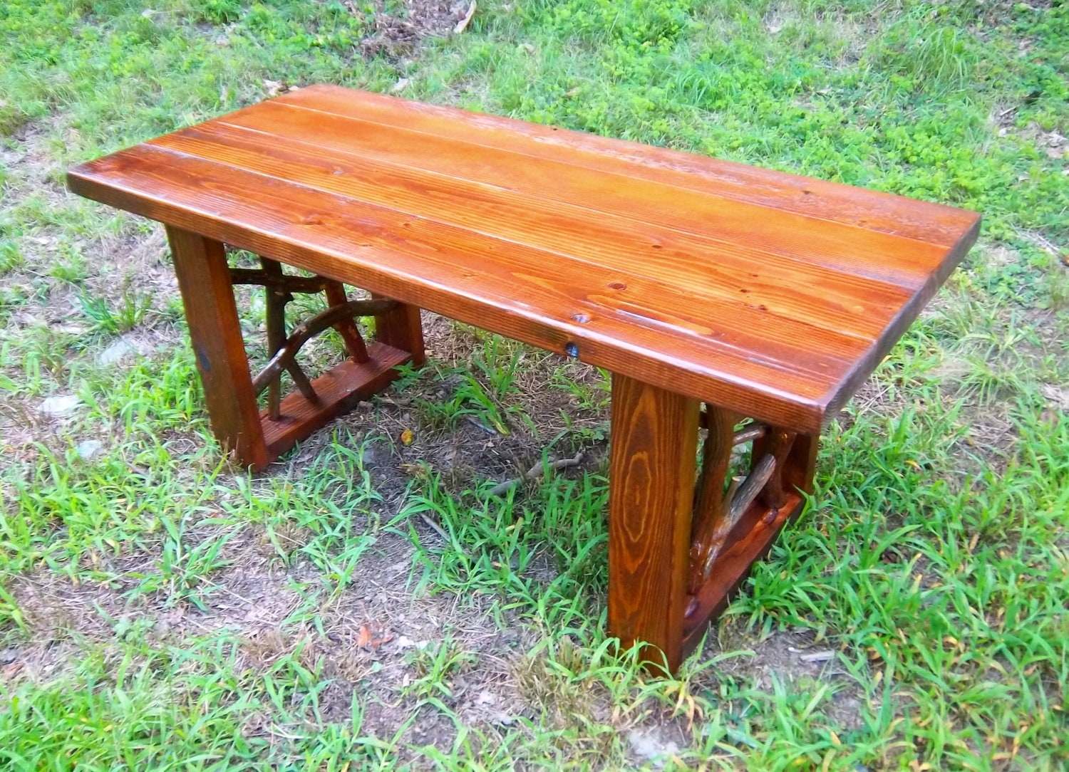 Rustic coffee tables unique and handmade from the log -  Zoom