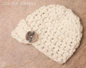 Newborn Newsboy Crochet Hat (Ready to Ship)
