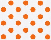 1 Yard Jack and Lulu - All Hands on Deck  - Polka Dot in Orange
