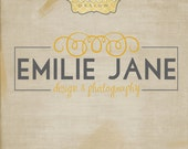 Emily Jane Premade Logo Design with Watermarks, JPG, and PDF