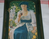 COCA COLA TRAY - Stunning Graphics - Reproduction of a 1921 Advertisement - Circa 1973