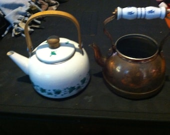Metal and copper kettles