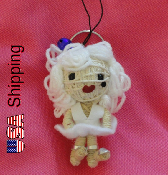 Marylin Monroe Norma Jeane String doll Voodoo doll keychain FREE Shipping for USA