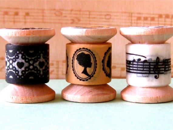 "Washi tape mini spool set ""Baroque Music""."