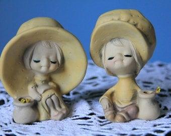 Vintage Girl & Boy Figurines by UCCTI