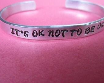 Custom Bracelet | Its Ok Not To Be Ok Bracelet