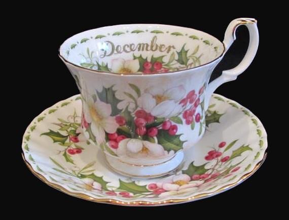 Royal Albert Christmas Rose Tea Cup And Saucer December
