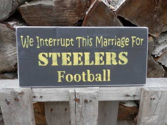 Steelers Man Cave Signs : Steelers football wood sign for the man cave by yousaidwhat