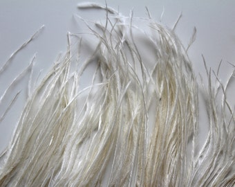 Ivory Ostrich Feather Fringe / 30cm for craft fascinator hairpiece hat