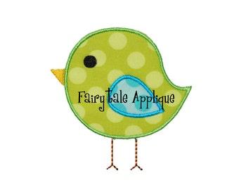 Digitial Machine Embroidery Design -  Bird Applique