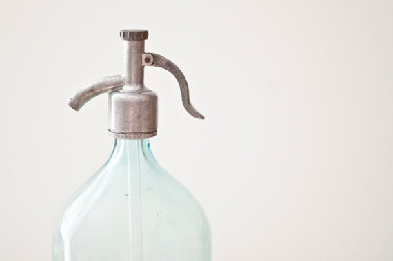 Vintage seltzer bottle - made in Soviet Union