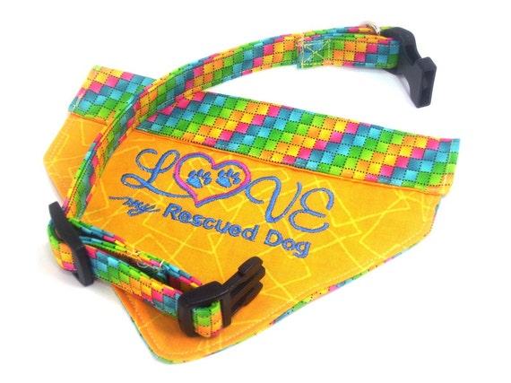 Dog Bandanas Dog Collar Dog Accessories Dog Apparel Rescue Dog Bandana for Small Dog