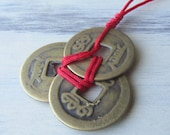 WEALTH Feng Shui Fortune Coins - I Ching