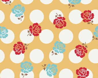 Riley Blake Fabric by the  yard - Sew Cherry Bee In My Bonnet Yellow