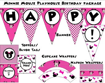 Minnie's Bow-tique  Birthday Party - Instant Download