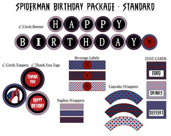 50% off - Spiderman Digital Party Package