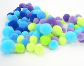 hardbead supplies, pompon ,multicolored, H00078 - hardbead