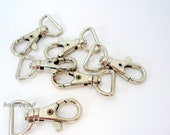 hardbead supplies, 6pcs,big clip, accessory for key holder and bag, silver,H00081