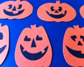 16 Die cut paper pumpkins, halloween, scrapbooking, decoration
