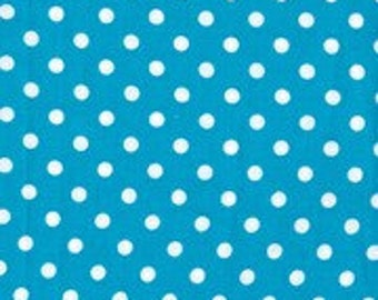 SALE! 1/4m Dumb Dot Teal Blue - Michael Miller