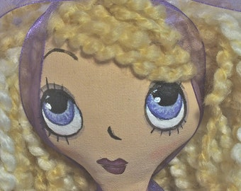 Cloth Art Doll - Brie a Lil' Character Doll