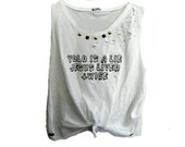 unif inspired ANY SIZE yolo is a lie jesus lived twice hipster tumblr distressed studded grunge cross