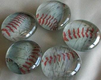 5 Large Baseball Magnets