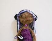 SALE - Crochet Rocking Rachelle Purple Amigurumi Doll