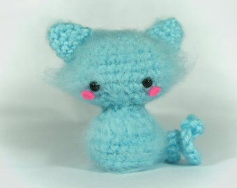 Crochet Snow Ball the Cat, Amigurumi Cat Toy, Cat Plush Handmade