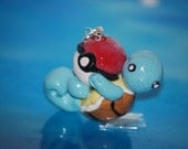 Squirtle and Pokeball Keychain