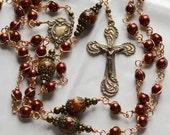 OOAK Heirloom European Rosary  Bronze Unbreakable