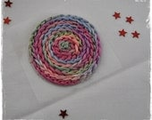 Spiral embellishment in spring colours
