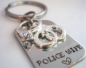Police Wife LEO Wife Army Wife Marine Wife Firefighter Wife Sheriff Wife Keychain