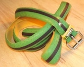 Bike Tire Belt - Green and Black Road Bicycle Tread - No. 111