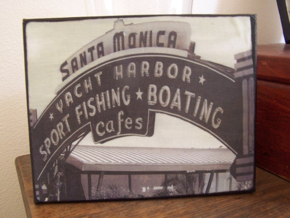 Santa Monica Pier - Canvas Art - 8 x 10