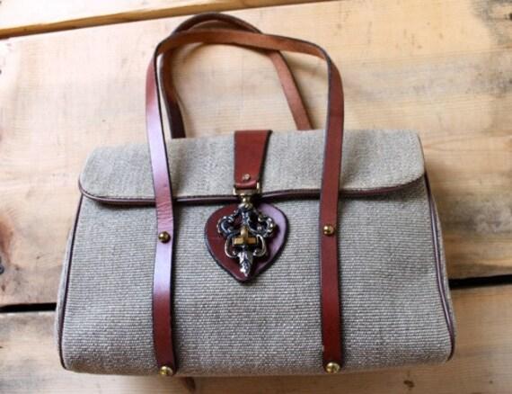 Vintage Etienne Aigner Handbag With Decorative Closure