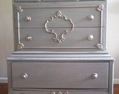 French Ice Blue/Grey Dresser/Chest of Drawers /Bureau