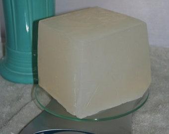 1 lb of Natural Detergent Free Melt & Pour Coconut Glycerin Soap Base clear