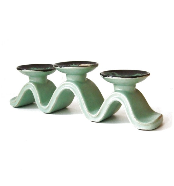 Ceramic Candlestick West Germany