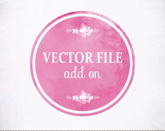 Vector Logo Add On - EPS Format - for Photographer, Photograhy, Small Business