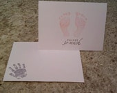 Reserved listing for Kristal - Baby Girl Shower Thank You Cards with Envelopes Set of 125