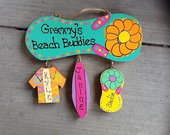 Personalized family flip flop sign