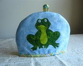 Embroidered Frog Tea Cosy