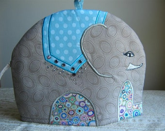 Raj- an Embroidered Cotton Elephant Tea Cosy