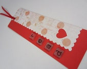 Red Heart Read Bookmark