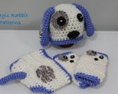 Newborn Crochet Puppy Hat, Diaper cover  and Leg Warmers - PDF Pattern