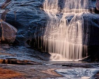 "Waterfall Landscape Photograph Print, Fine Art Wall Decor, Nature Photography ""High Falls"" 8x10 (or larger)"