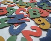Vintage Letters & Numbers - Cardboard - Colourful