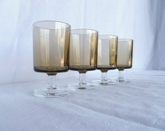 Luminarc Cavalier 9.5cm smokey grey juice or sherry glasses, set of 6